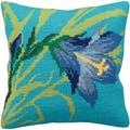 Lys Sauvage Pillow Cross Stitch Kit