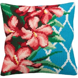 Hibiscus Pillow Cross Stitch Kit