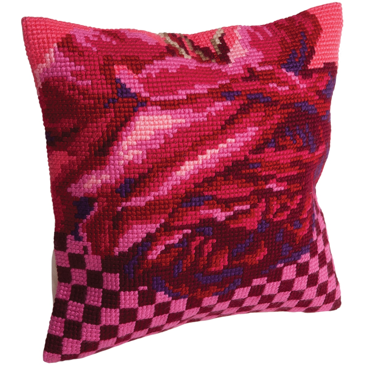 Rose Cocktail Pillow Cross Stitch Kit