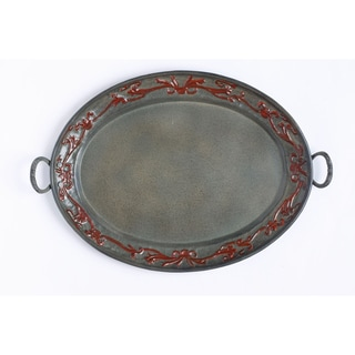 Old Dutch Art Nouveau Oval Tray