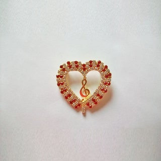Heart Crystal Pin