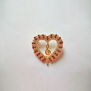 Detti Originals 'Heart' Crystal Pin
