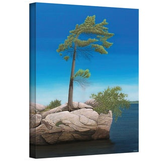 Ken Kirsch 'Tree Rock' Wrapped Canvas