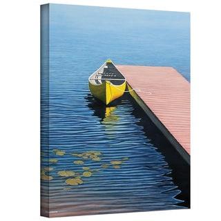 Ken Kirsch 'Yellow Canoe' Wrapped Canvas