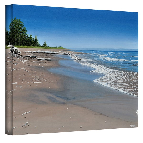 Ken Kirsch 'Driftwood Beach' Wrapped Canvas