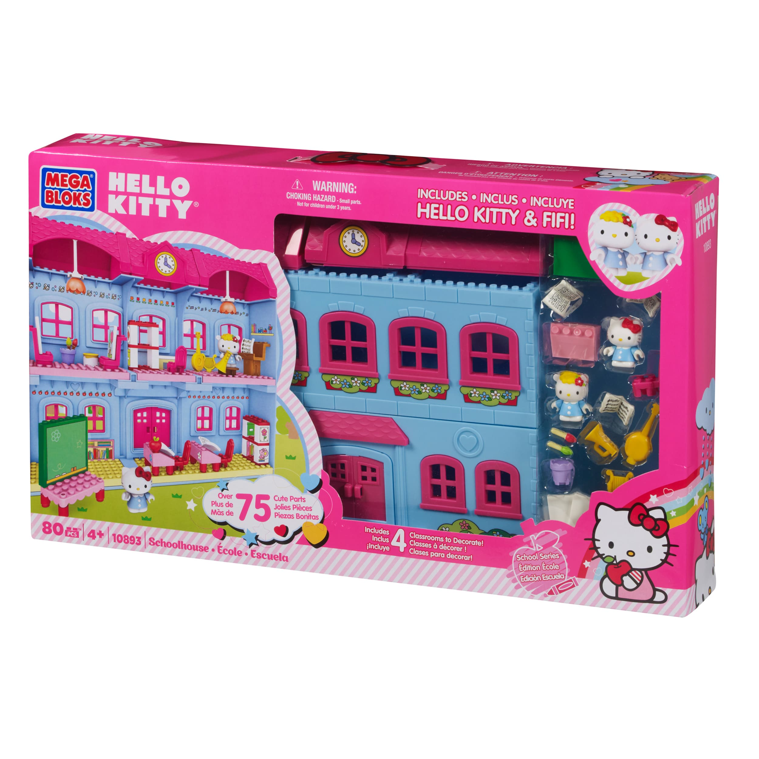 Mega Bloks Hello Kitty Schoolhouse Playset