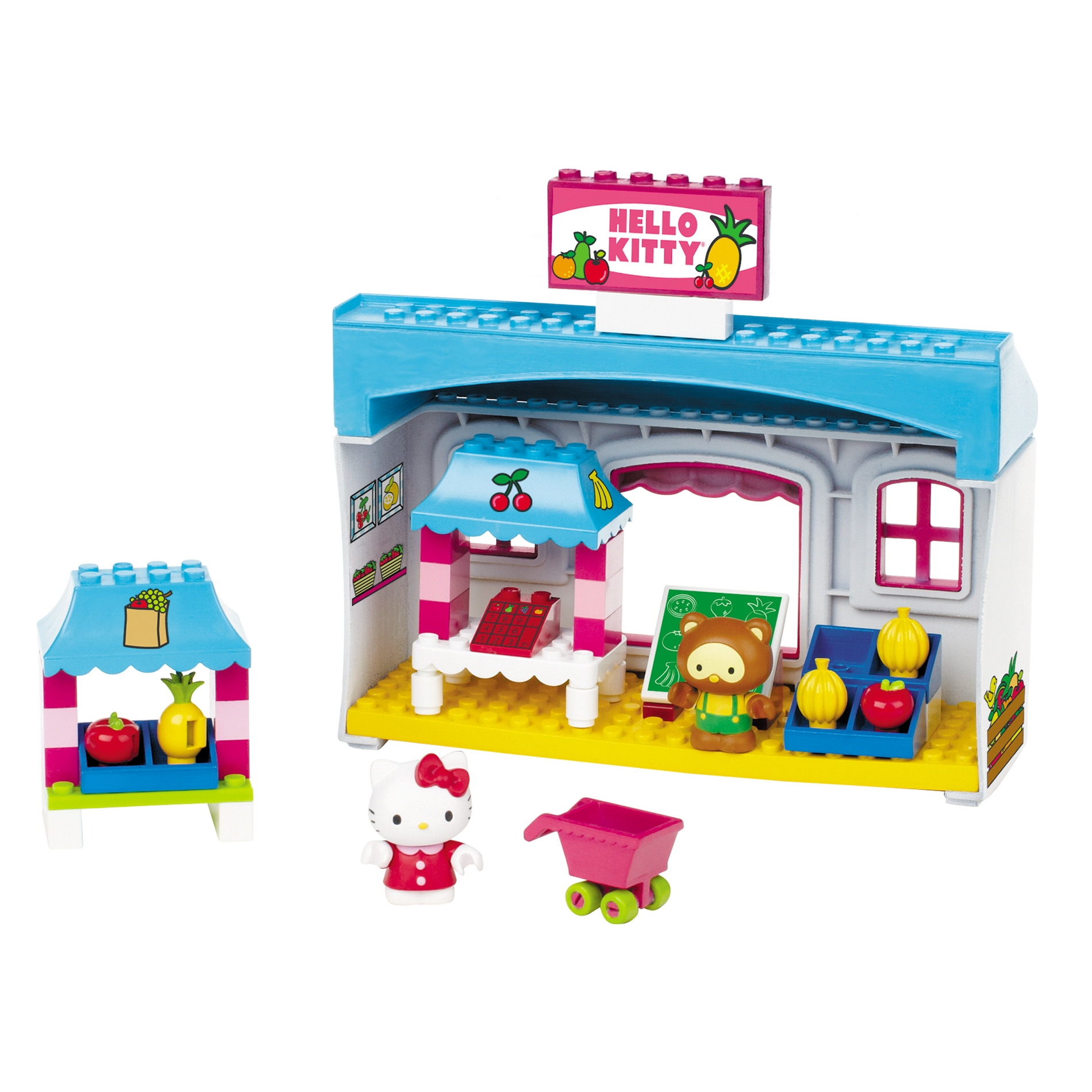 Mega Bloks Hello Kitty Fruit Market Playset