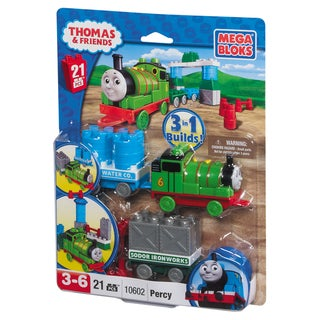 Mega Bloks Thomas and Friends Percy with Wagon Playset