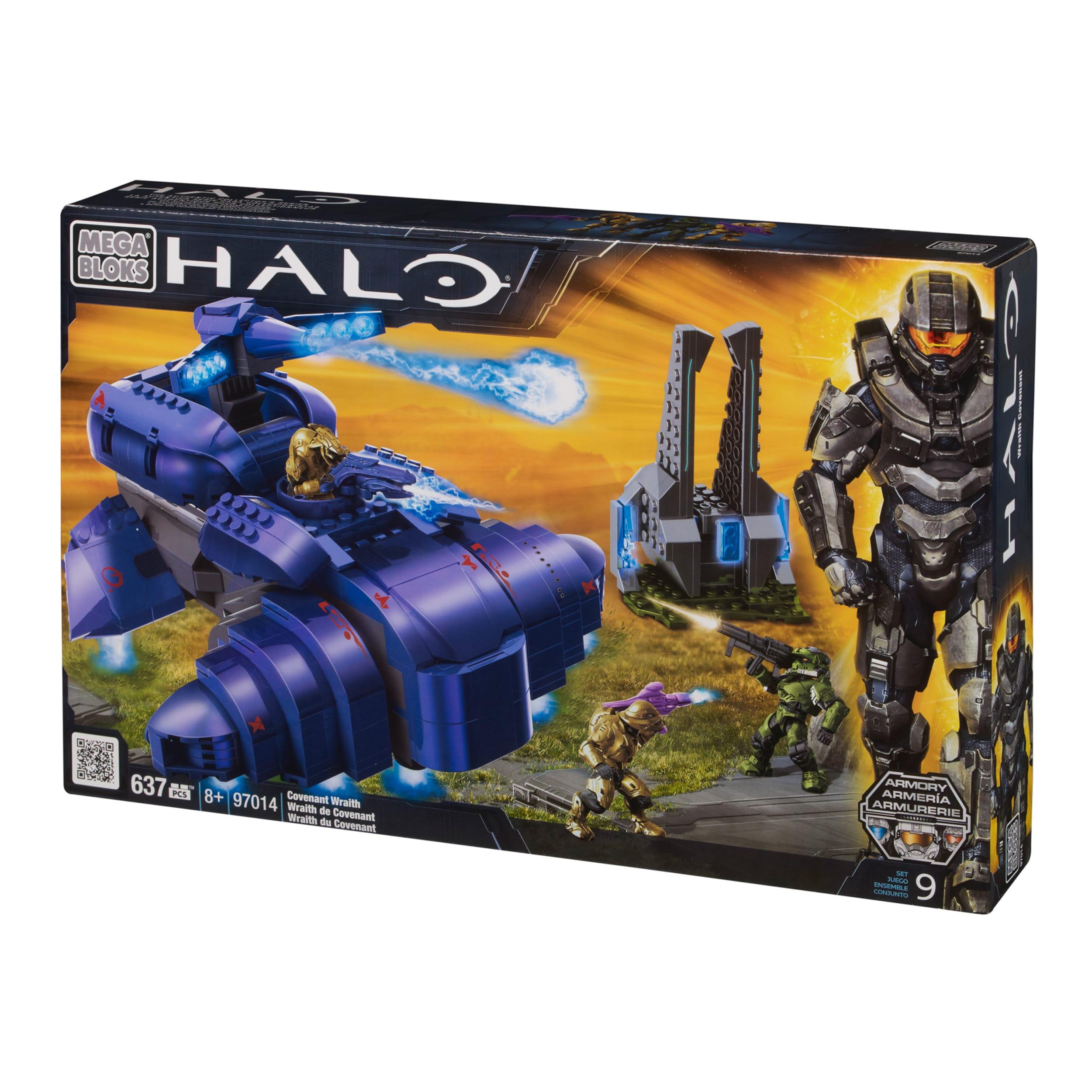 Mega Bloks Halo Covenant Wraith Playset