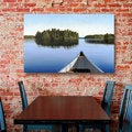 Ken Kirsch &#39;Paddle Muskoka&#39; Wrapped Canvas