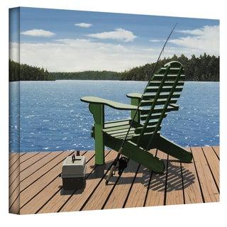 Ken Kirsch 'FishingChair' Wrapped Canvas