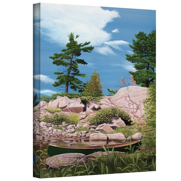 Ken Kirsch 'Canoe among Rocks' Wrapped Canvas