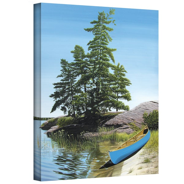 Ken Kirsch 'Canoe on Georgian Bay' Wrapped Canvas