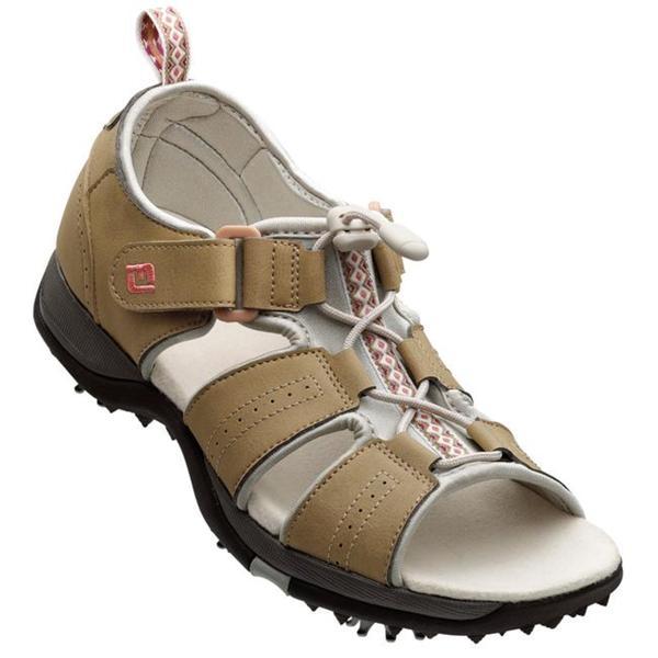 FootJoy Women's GreenJoys Taupe Golf Sandals