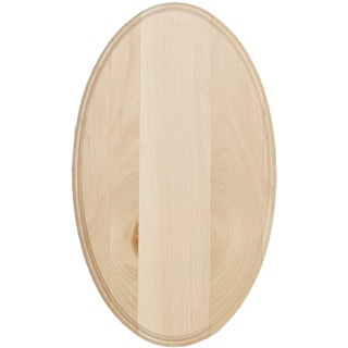 Oval Pine Sign-12X20in