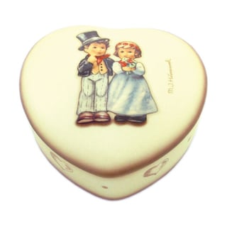 M I Hummel 'Dearly Beloved' Porcelain Heart Box