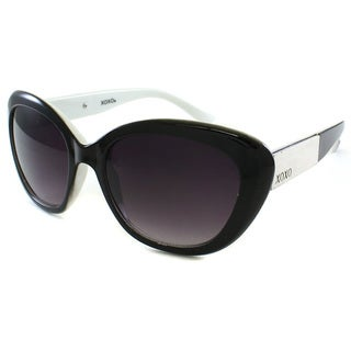 XOXO Women's 'Casablanca' Black/ White Cat Eye Sunglasses