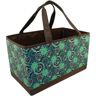 Mackinac Moon Large Yarn Organizer-Flower/Circle Print-Teal/Green/Brown
