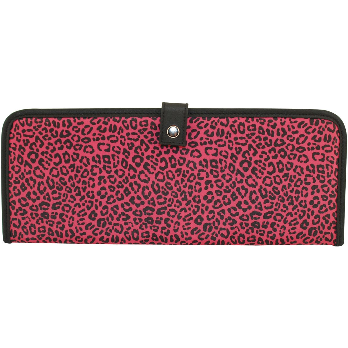 Mackinac Moon Knitting Needle Holder-Animal Print-Pink/Black