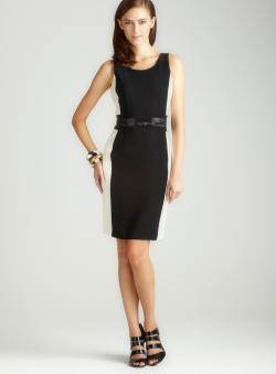 Cluny Ponte Dress With Leather
