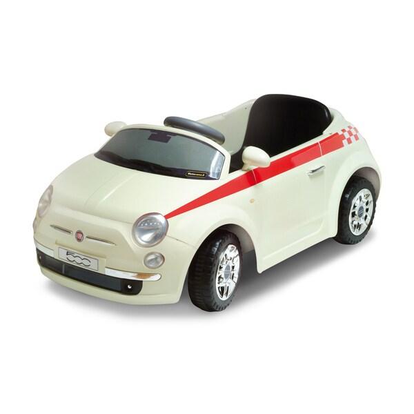 Motorama Jr. White Fiat 500 Ride-on Car