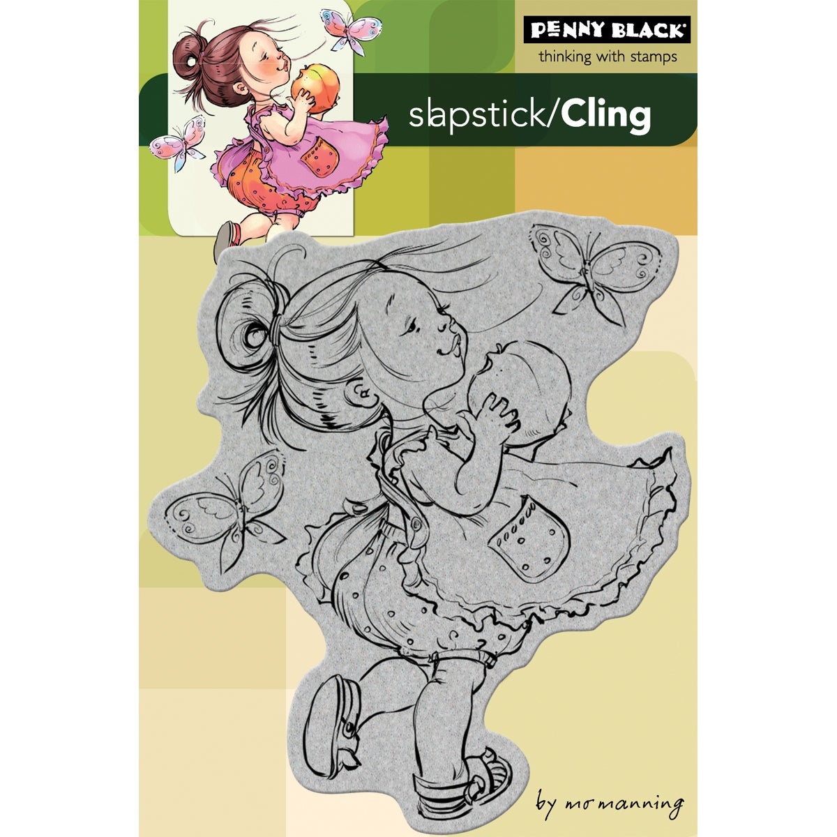"""Penny Black Cling Rubber Stamp 4""""X6""""-You Are A Peach"""