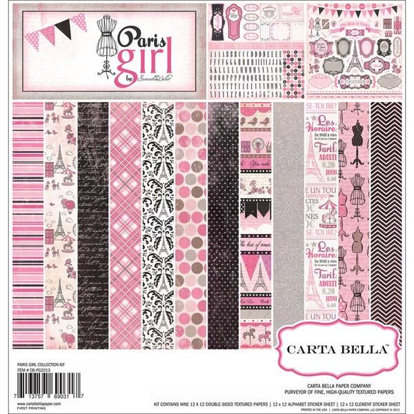 """Paris Girl Collection Kit 12""""X12""""-"""
