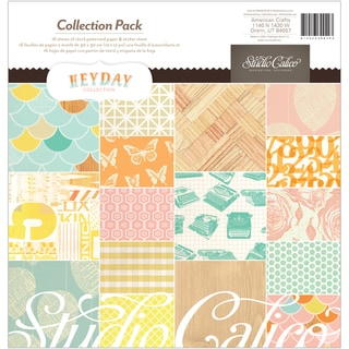 "Heyday Collection Pack 12""X12""-16 Double-Sided Papers + Sticker Sheet"
