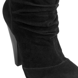 Journee Collection Women's 'Brenda-2' High Heel Faux Suede Slouch Boots