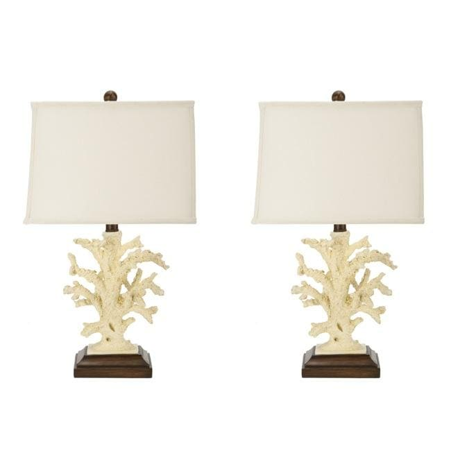 Safavieh Indoor 1-light Beach Coral Table Lamps (Set of 2)