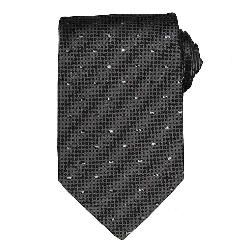 Versace Men's Dot and Greek Key Pattern Silk Tie