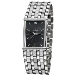 Bulova Men's 'Diamonds' Stainless Steel Quartz Diamond Watch