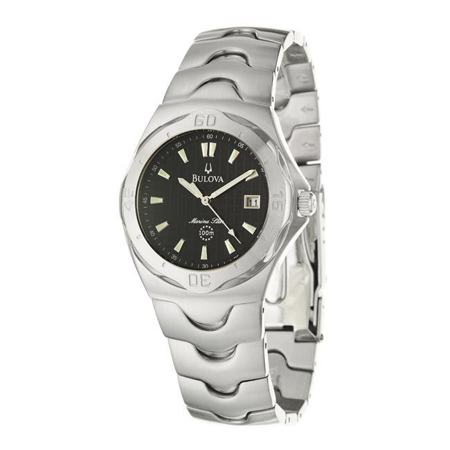 Bulova Mens Marine Star Stainless Steel Quartz Watch