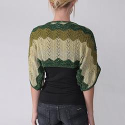 Adi Juniors Lurex Stripe Crochet Shrug