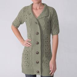Funky People Juniors Button Front Cardigan