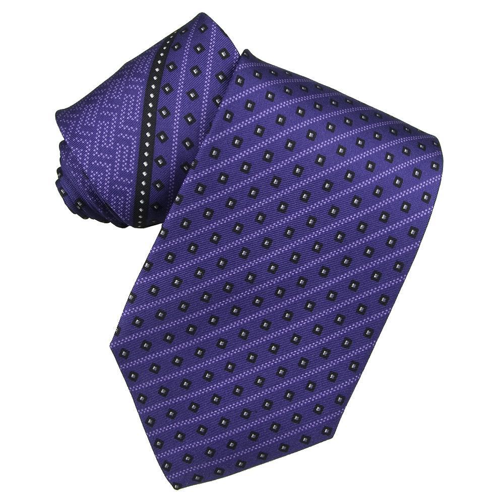Versace Mens Purple Striped Tie