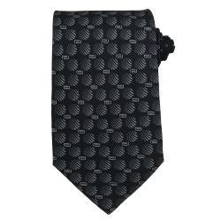 Versace Men's Greek Key And Striped Circle Silk Tie