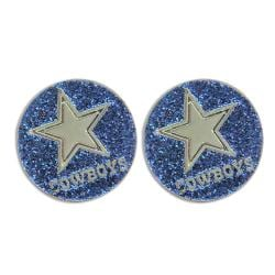 Dallas Cowboys Glitter Stud Earrings
