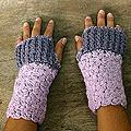 Alpaca Wool 'Lovely Lilac' Fingerless Gloves (Peru)