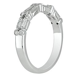 18k White Gold 1/2ct TDW Bezel Baguette Diamond Ring (G-H, SI1-SI2)