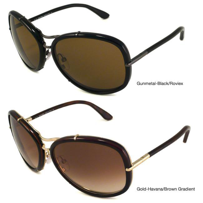 Tom Ford TF0135 Elle Women's Aviator Sunglasses