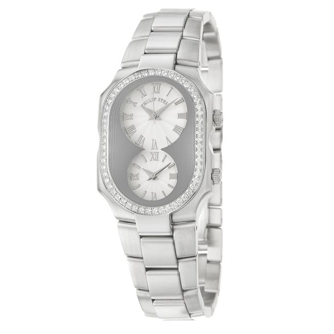 Philip Stein Men's 'Signature' Stainless Steel Quartz Diamond Watch