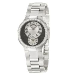 Philip Stein Men's 'Modern' Stainless Steel Quartz Diamond Watch