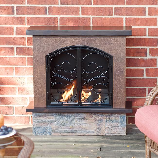 Boulder Portable Indoor/ Outdoor Gel Fuel Fireplace