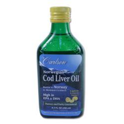 Carlson Laboratories Norwegian Cod Liver Oil 250 ML Bottle