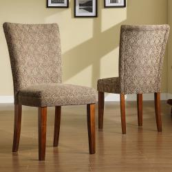 ETHAN HOME Carlisle Cherry Pine Dining Chairs (Set of 2)