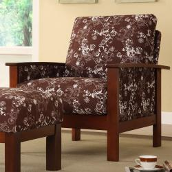 Hills Brown Floral Print Chair