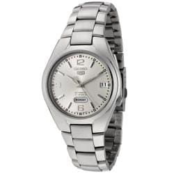Seiko Men's Seiko 5 Silver Dial Stainless Steel Automatic Watch