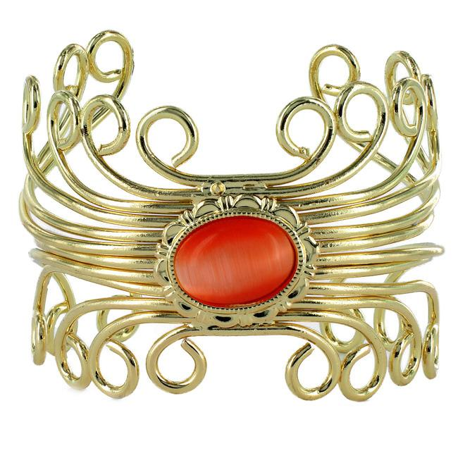 West Coast Jewelry Goldtone Cat's Eye Bracelet