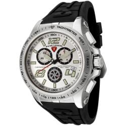 Swiss Legend Men's Sprint Racer Black Silicone Chronograph Watch